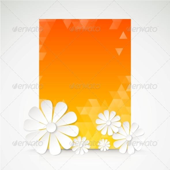 Paper Flower Postcard. - Flowers & Plants Nature
