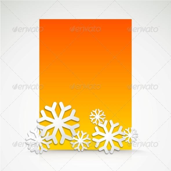 Snowflake and Bright Christmas Background. - Christmas Seasons/Holidays