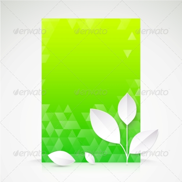 Green Paper Leaf, Abstract Wallpaper. - Flowers & Plants Nature