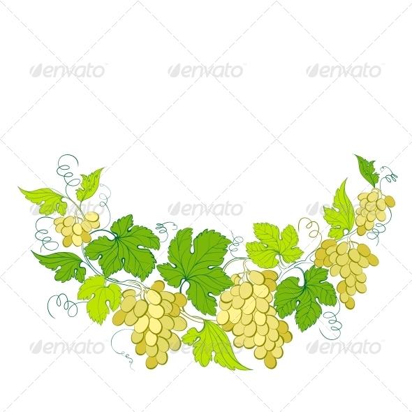Wine List Design with Grapes Decoration. - Flowers & Plants Nature