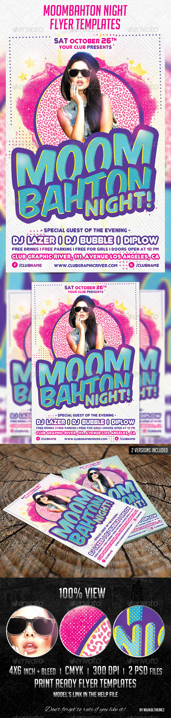 Moombahton Night Flyer Template - Clubs & Parties Events