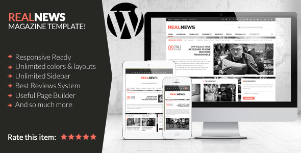 Realnews – Stylish and Responsive Magazine Theme