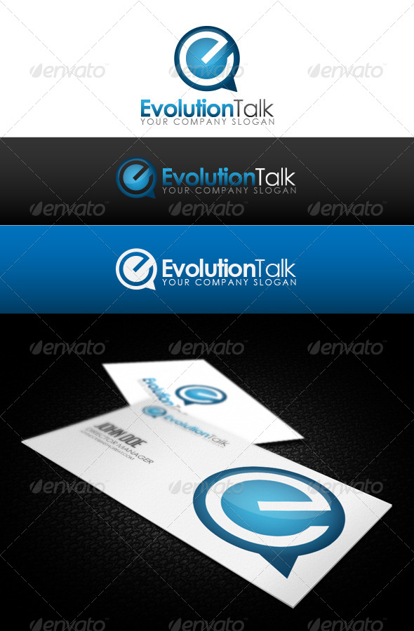 Evolution Talk Logo - Letters Logo Templates