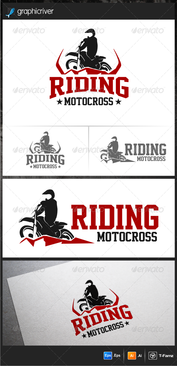 Riding Motocross Logo Templates - Objects Logo Templates