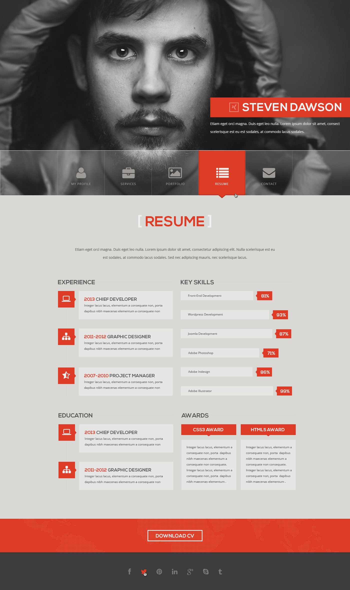 Syntac - Flat Personal Portfolio Html Template by eriktailor ...