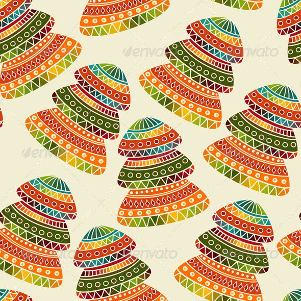 Vector Seamless   Christams Pattern  - Patterns Decorative