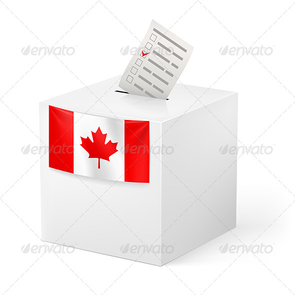 Ballot Box with Voicing Paper. Canada. - Man-made Objects Objects