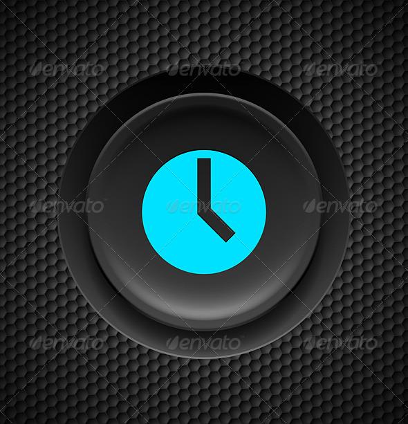 Timer Button. - Web Elements Vectors