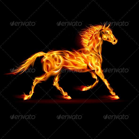Fire Horse. - Tattoos Vectors