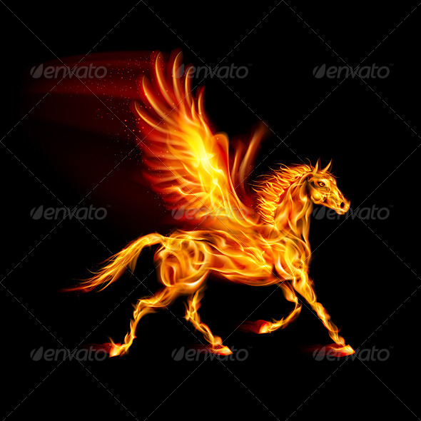 Fire Pegasus - Decorative Symbols Decorative