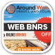 Around World Travel Web Banners - GraphicRiver Item for Sale