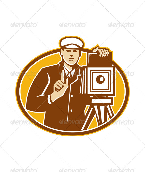 Photographer Vintage Camera Front Retro - People Characters