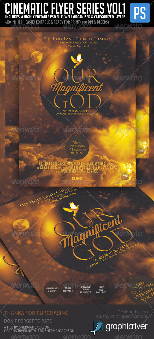 Cinematic Flyer Series - Vol. 1 - Church Flyers