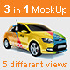 3in1 Car Branding Mock Up - GraphicRiver Item for Sale