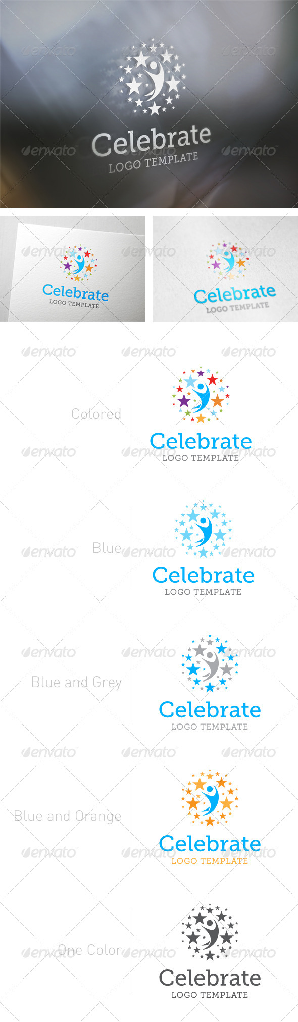 Celebrate Logo Template - Abstract Logo Templates