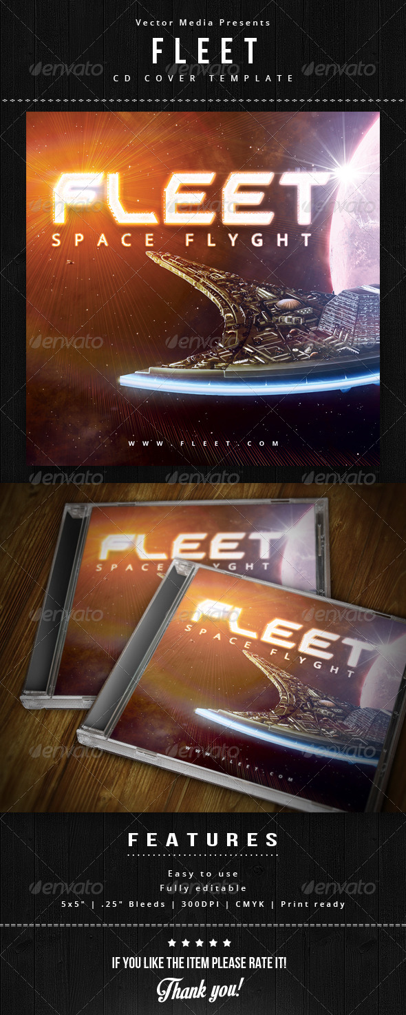 Fleet - Cd Cover - CD & DVD Artwork Print Templates