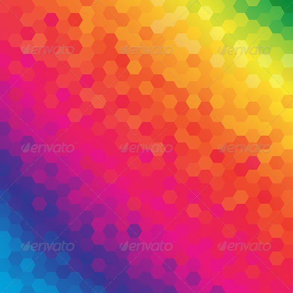 Colorful Honeycomb Pattern Background - Backgrounds Decorative
