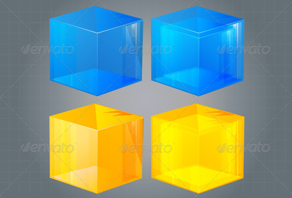 Cube Icon - Illustration - Technology Conceptual