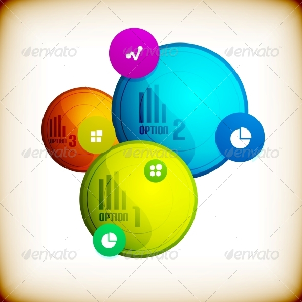 Abstract Circles Infographic Colorful Template - Abstract Conceptual