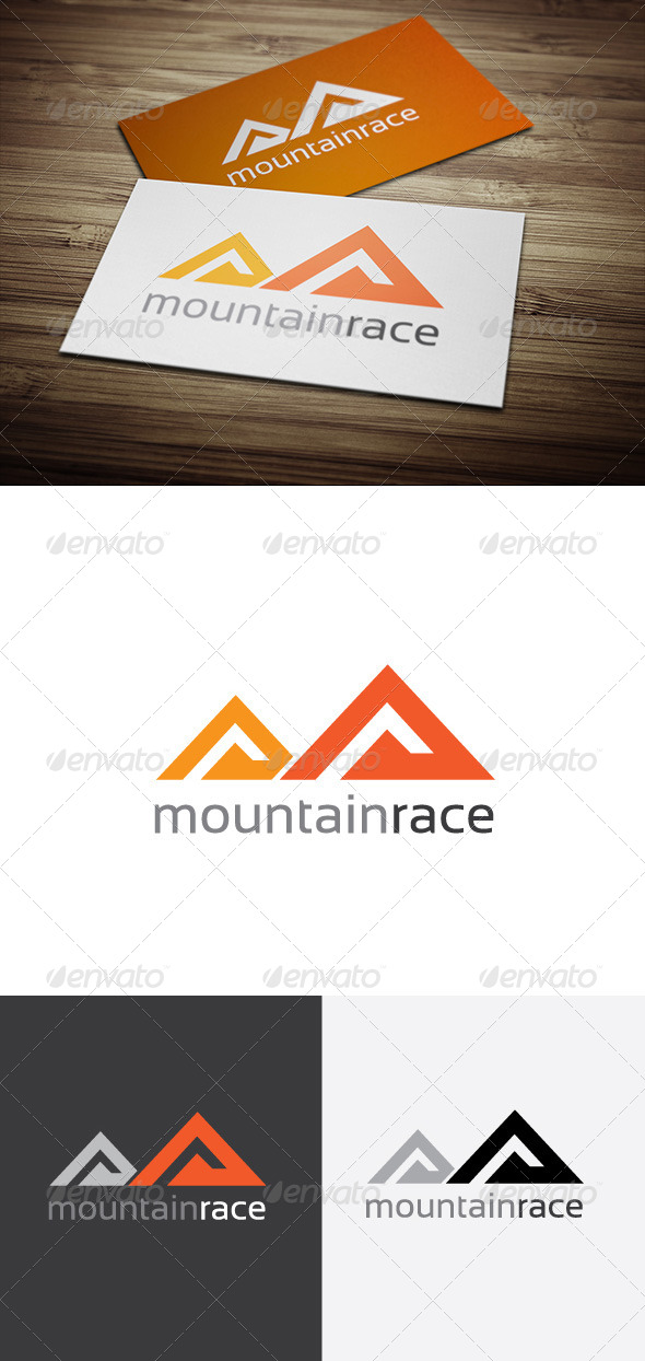 Mountain Race Logo - Nature Logo Templates