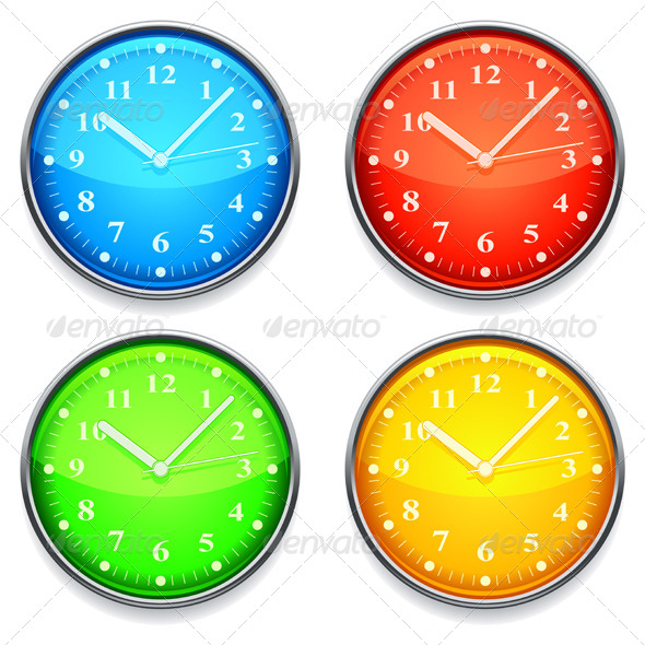 Color Clock - Objects Vectors