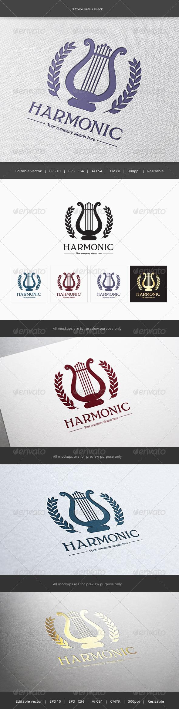 Harmonic Music Logo  - Objects Logo Templates