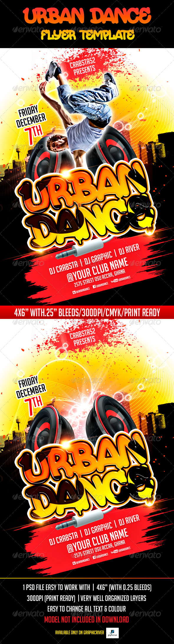 Urban Dance Flyer Template - Events Flyers