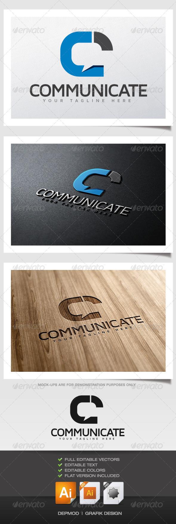 Communicate Logo - Letters Logo Templates