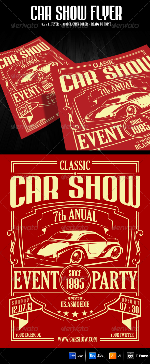 Car Show Flyer Template By TFamz GraphicRiver - Car show flyer background