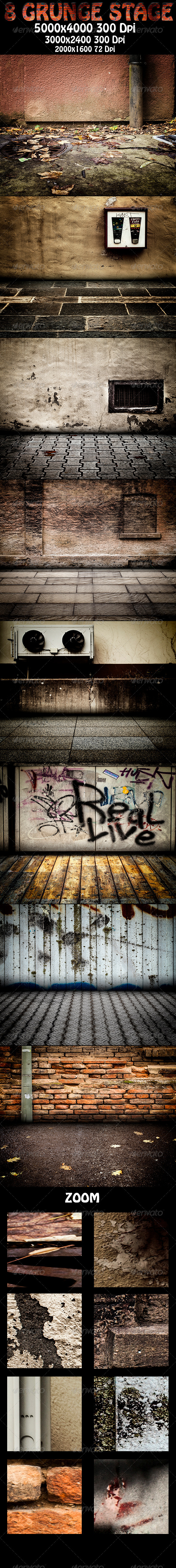 8 Grunge Stage - Urban Backgrounds