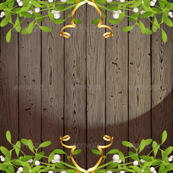 Background with Mistletoe - Christmas Seasons/Holidays