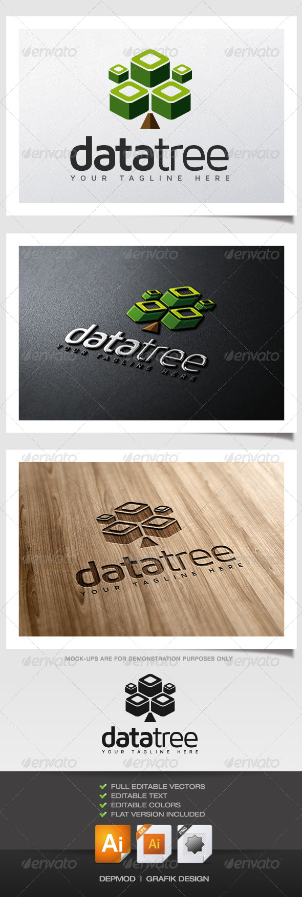 Data Tree Logo - Symbols Logo Templates