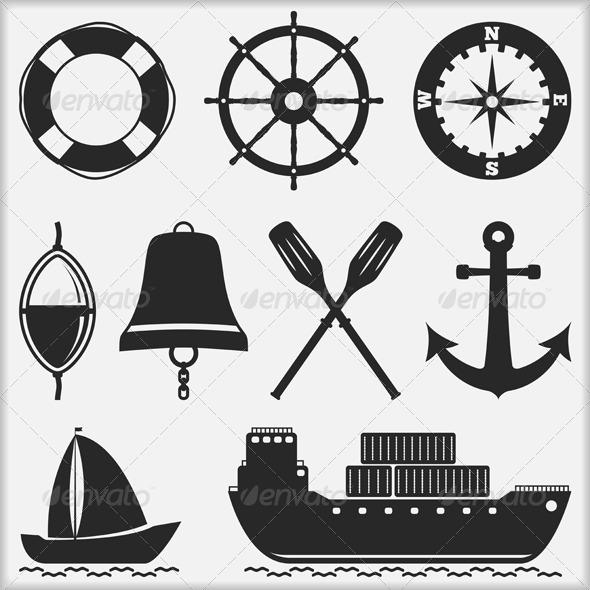 Nautical Icons - Miscellaneous Vectors
