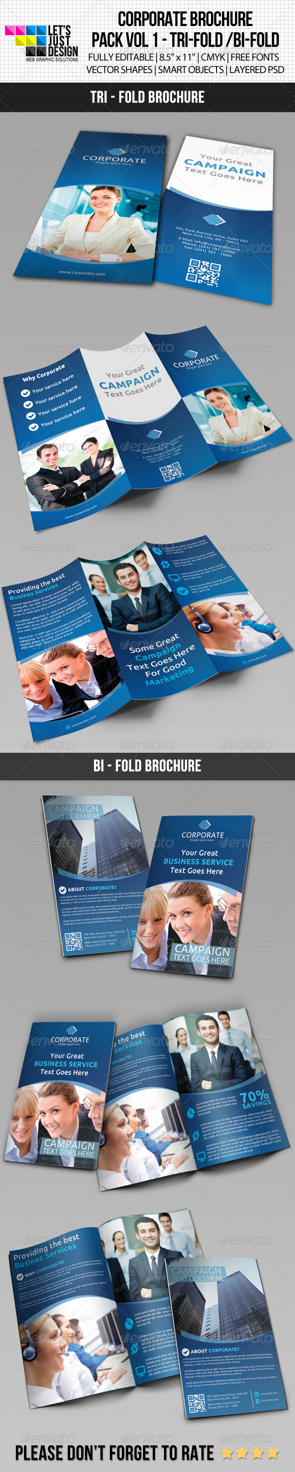 Corporate Brochure Pack Vol 1 - Brochures Print Templates