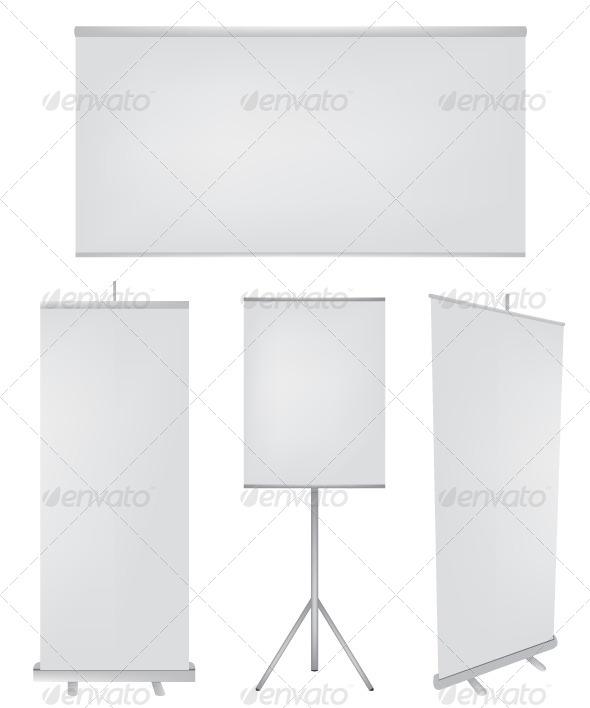 Roll Up Banner Illustration - Objects Vectors