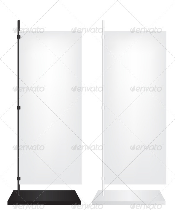Flag Stand Banner - Objects Vectors