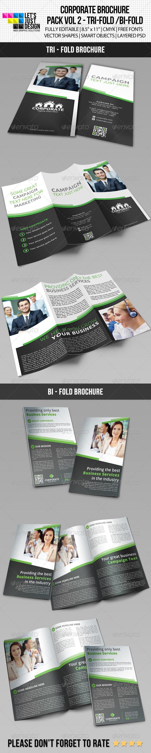 Corporate Brochure Pack Vol 2 - Brochures Print Templates