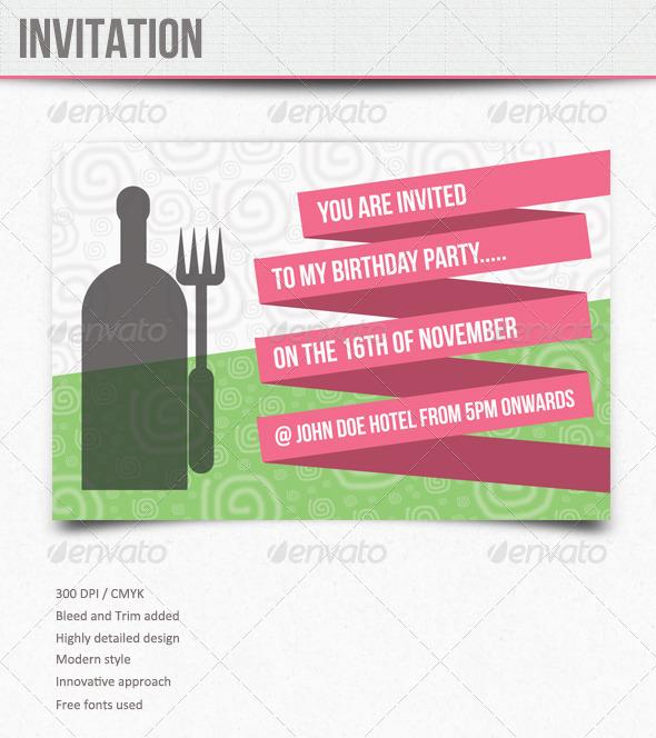 Invitations : Birthday  - Invitations Cards & Invites