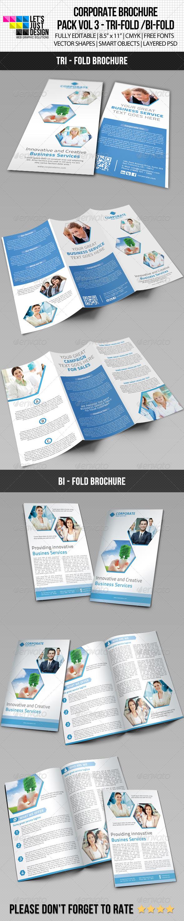 Corporate Brochure Pack Vol 3 - Brochures Print Templates