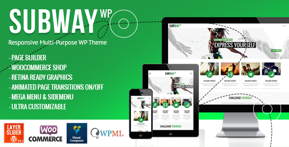Subway - Responsive Multi-Purpose WordPress Theme - Corporate WordPress