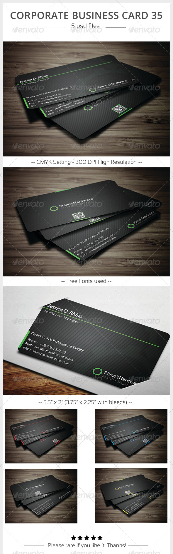Corporate Business Card 35 - Corporate Business Cards