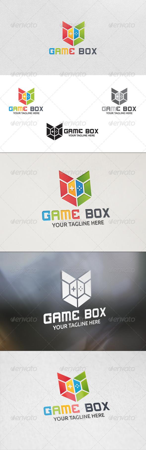 Game Box - Logo Template - Vector Abstract