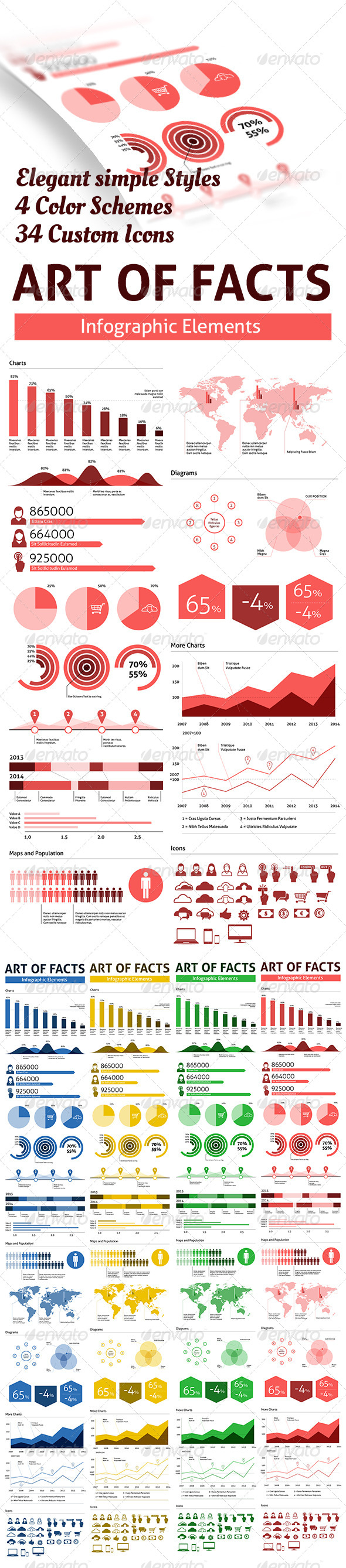 Arts of Facts - Clean Infographic Elements - Infographics