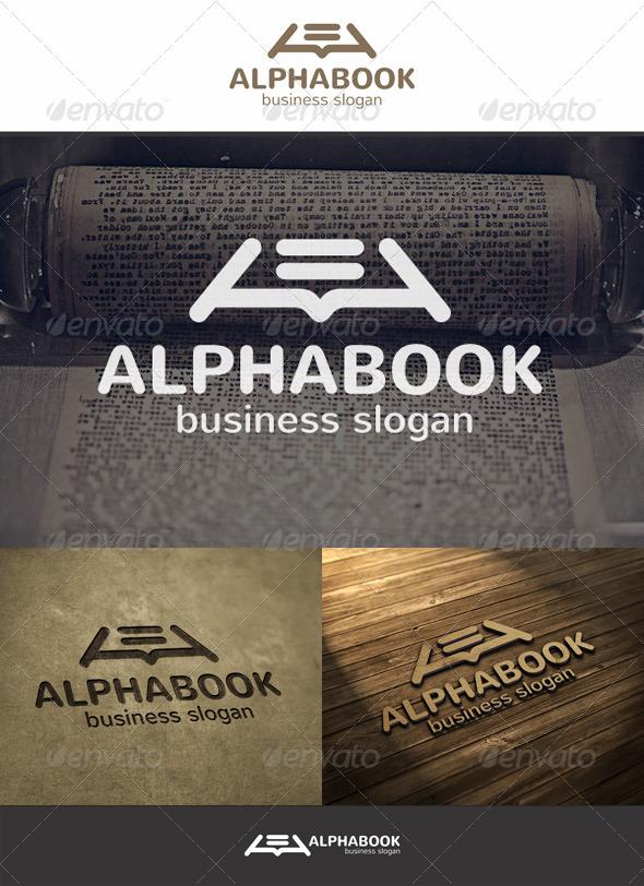 Alpha Book Logo - Symbols Logo Templates