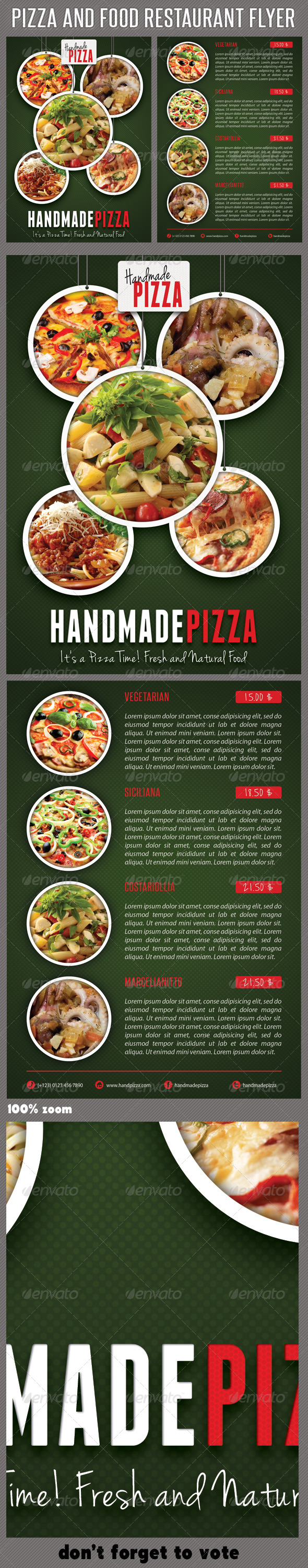 Food And Pizza Menu Flyer 03