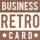 Retro New Business Card - GraphicRiver Item for Sale