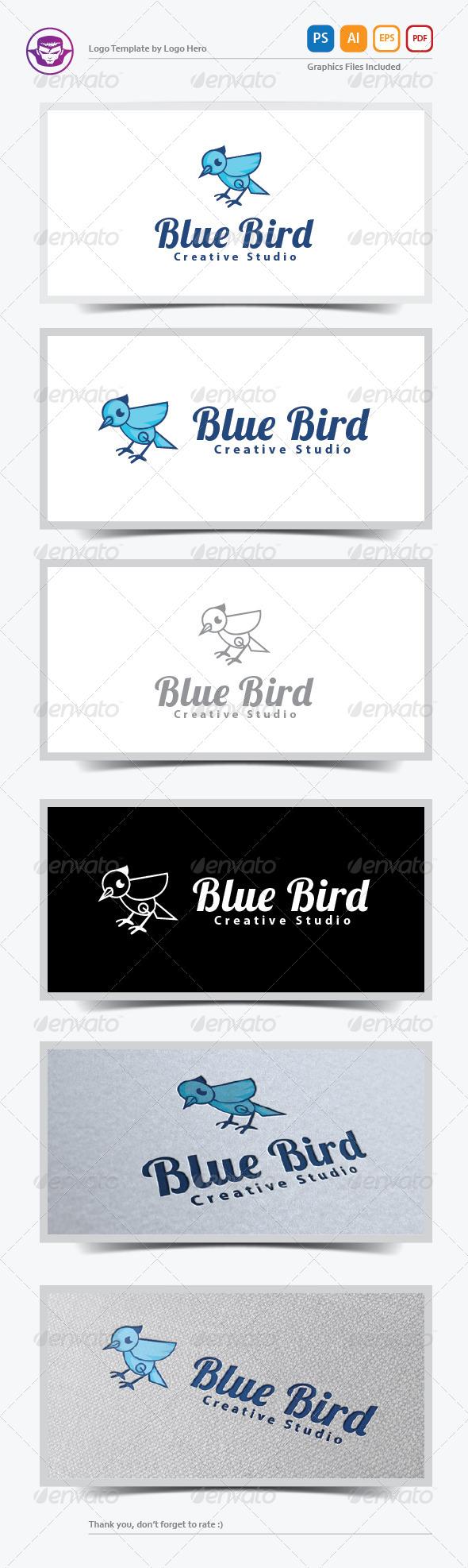Blue Bird Logo Template - Animals Logo Templates