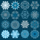 Decorative Snowflakes Vector Set. - GraphicRiver Item for Sale