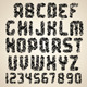 Dirty Vector Font. Grunge Letters and Numbers - GraphicRiver Item for Sale