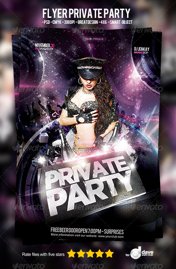 Flyer Private Party - Clubs & Parties Events